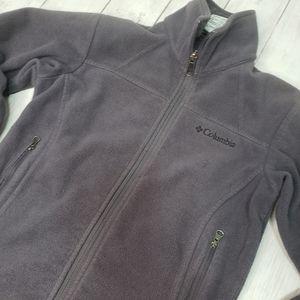 Columbia Youth Fleece Jacket Gray Size 7/8.